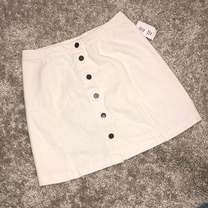 Kismet White Jean Skirt